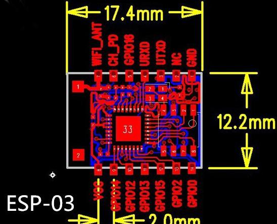 Pinout ESP8266 ESP-03